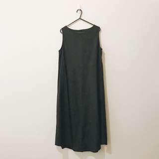 🚚 1 貓咪曬月亮 無袖背心長裙 A字裙 休閒洋裝 正式洋裝 黑色