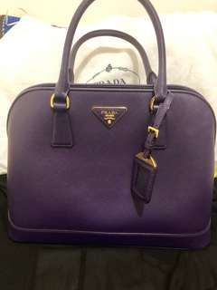 Prada classic bag in purple