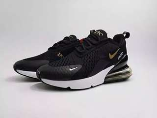 Nike Air Max 270 Black Gold With White Grade Original
