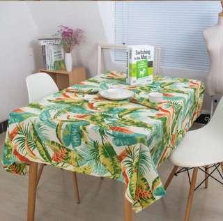 田園餐桌布
