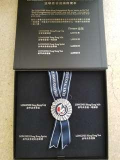 浪琴表 香港 國際賽 賽馬 HKJC 襟章 收藏盒Jockey Club 跑馬 Longines 馬會紀念品