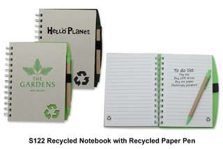 Wholesale Recycled Notebook with Recycled Paper Pen