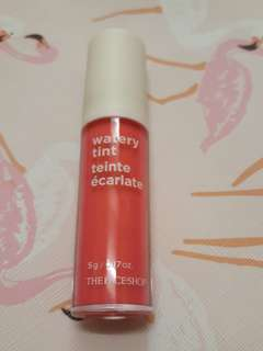 Face Shop Watery Tint in 01 PINK BELLA/ROSE BONBON