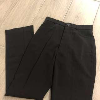 女裝OL直腳黑色西褲 blank pants