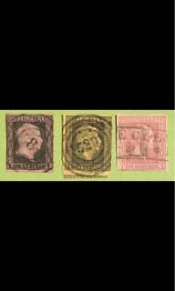 Prussia 1850/1858 imperf Used stamps Rare