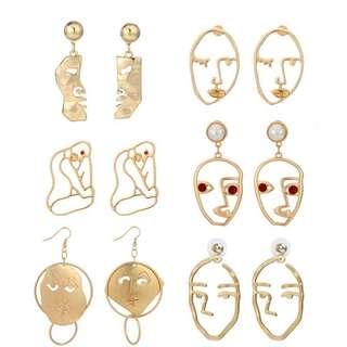 Pre-order Face earrings