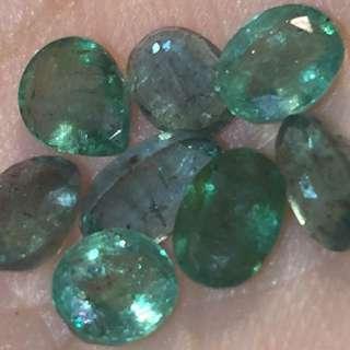 (8 pieces) Natural Emerald 綠寶石(祼石)