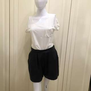 H&M leather high waist short