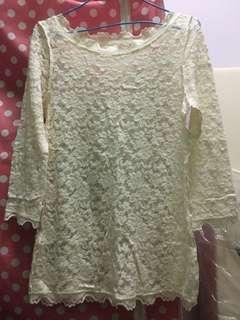 White Cream lacy tops