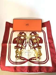 💯真品 近全新 Auth Hermes 100% silk scarf 全真絲絲巾
