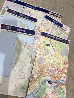 BUNDLE Of Maps - KL / Penang / Semenyih / Iskandar