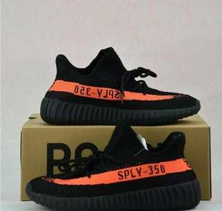 Adidas Yeezy Boost V2 350 SPLY Black Orange Grade Original