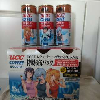UCC EVA 新世纪福音戰士( 只有一套 )咖啡罐連紙託6罐