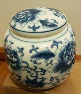 瓷器藍花茶葉瓶