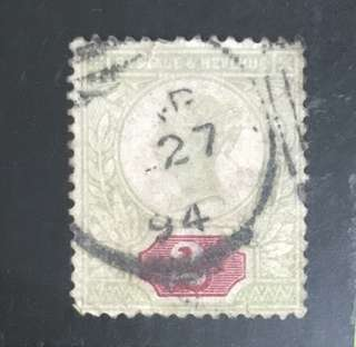 UK early Queen Victoria 2d Used