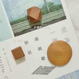 🚚 #客製 耳環 木材質01咖啡色