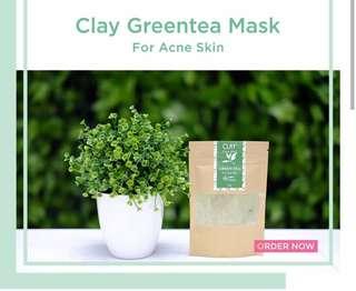 Clay mask greentea, cocoa, almond