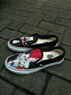 vans slip on marsmallow costum MOBILE LEGENDS THE JHOKER