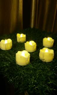 (RENTAL) LED flickering yellow light candles