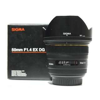 Sigma 50mm F1.4 EX DG HSM For Canon