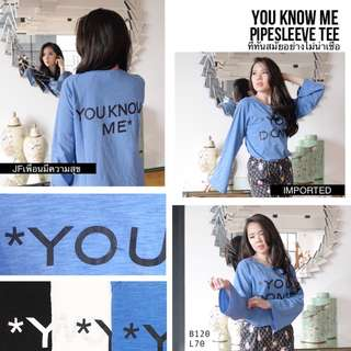 YOU KNOW ME PIPESLEEVE TEE