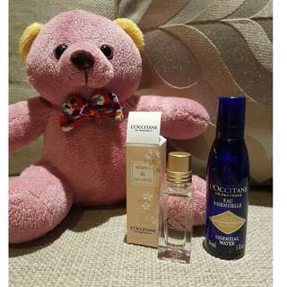 L'occitane Neroli and Orchidee EDT + Immortelle essential water (face mist)