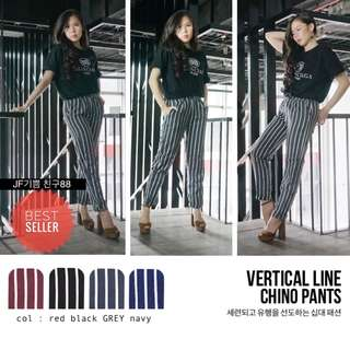 VERTICAL LINE CHINO PANTS *BEST SELLING*
