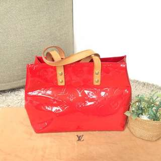 Louis Vuitton  Red  Vernis Mini Tote