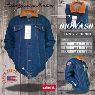 Jaket Jeans Dilan Biowash | Jaket Levis | Jaket Cowok