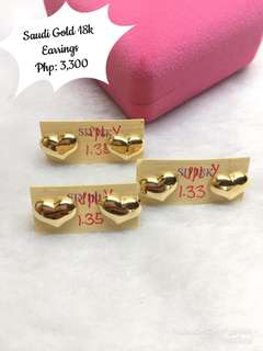 Saudi Gold 18k.earrings