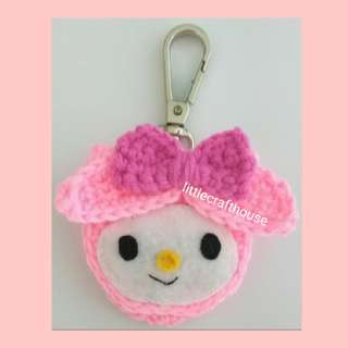My Melody coin pouch keychain