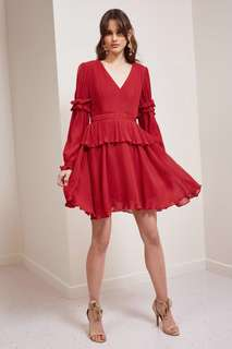 Keepsake Scarlet Red Skylines Mini Dress