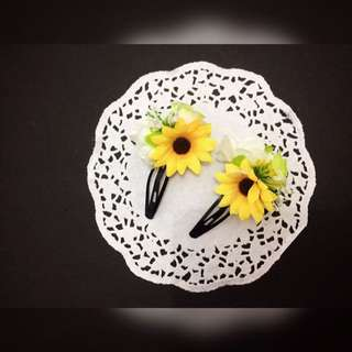 Sunflower Hairclips / Jepit Rambut