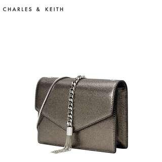 Charles & Keith Tassel Envelope Clutch Shoulder Bag