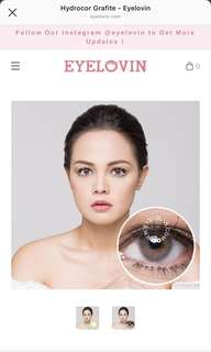 eyelovin Grey softlens - Hydrocor Grafite (- 3.50)