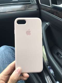 Iphone 7 baby pink silicon case
