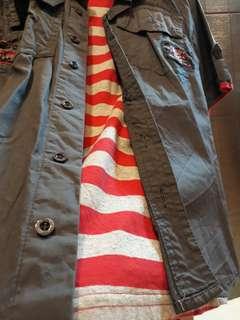 URBAN假兩件美式卡其棉T上衣(135cm)