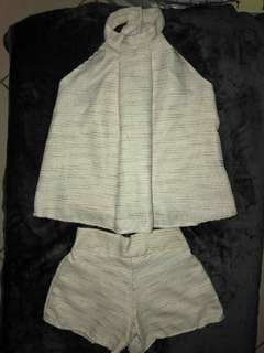 ZARA INSPIRED TERNO IN WHITE FITS XS TO M