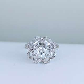 鑽石白金戒指 Diamond White Gold Ring