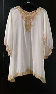 Kaftan Broken White