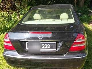 Merc benz w211 e200 SAMBUNG BAYAR & SPECILA PLATE NO222