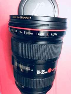 EF 16-35mm f2.8 L USM .  Canon zoom lens