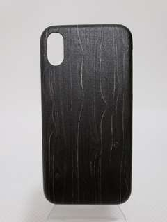 iPhone X Wooden Case Black