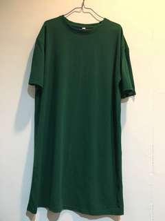 綠色棉質洋裝