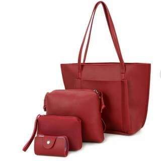 3 Warna 4in1 Set Tote Bag Okka | Tas Murah