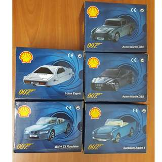 SHELL James Bond 007 - 1:64th Scale Shell Cars - Set of 5