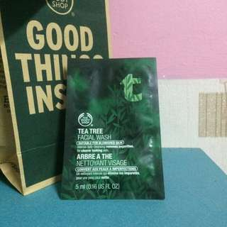 The Body Shop Tea Tree Gel Facial Wash Sample