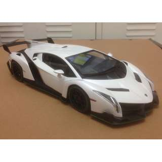 無包裝 Kyosho 京商 1/18 Lamborghini Veneno 合金車 (珍珠白色)