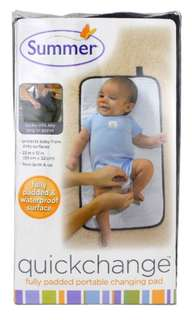 Summer Infant. Quick change, fully padded portable pad