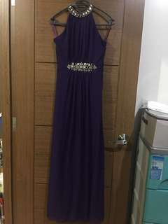 Purple Long Gown
